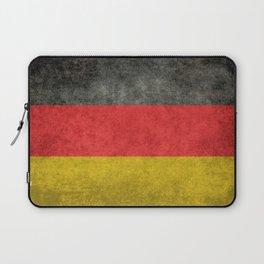 German National flag, Vintage retro patina Laptop Sleeve