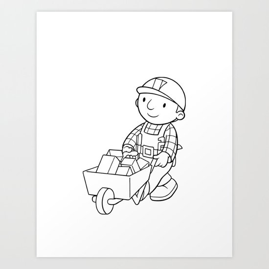 Bob The Builder Art Print