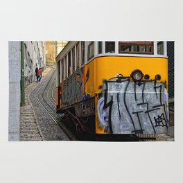 Tram on the Hill Rug