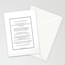 Ralp Waldo Emerson To Laugh Often And 466 Watercol Stationery Cards