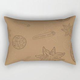 Pattern with Cinnamon and lemon Rectangular Pillow