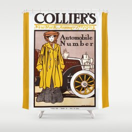 Collier's Automobile Number 1903 Shower Curtain