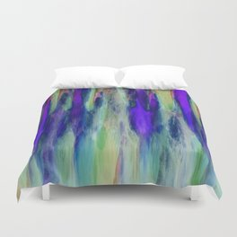 The Cavern in Shades of Purple and Green Duvet Cover