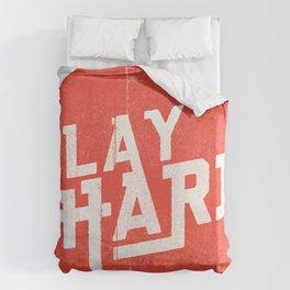 Play Hard Duvet Cover