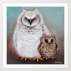 Wol and Weeps - From Owls in the Family - By Farley Mowat Art Print