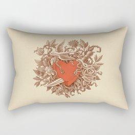Heart of Thorns  Rectangular Pillow