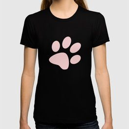 Tiny Paw Prints Pink Blush Pattern T-shirt