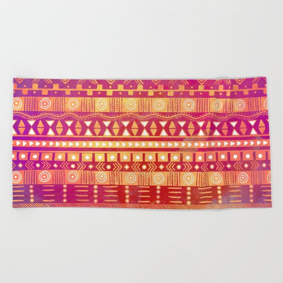Inspired Aztec Pattern Beach Towel
