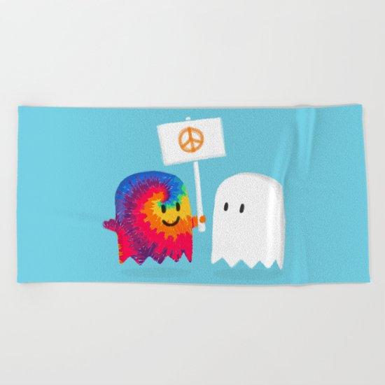 Hippie ghost Beach Towel