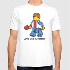 Love One Another Mens Fitted Tee MEDIUM White