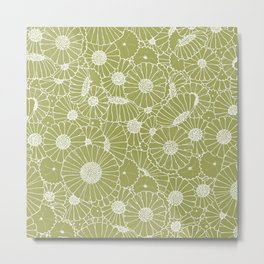 Floral Bunch Green Metal Print