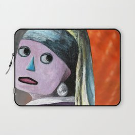 Robot with a Pearl Earring Laptop Sleeve