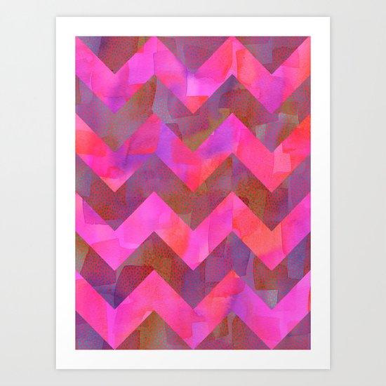 Dot Chevron Art Print