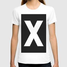 Letter X (White & Black) T-shirt