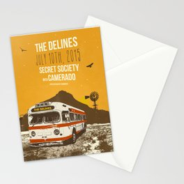 THE DELINES - July 10th, 2015 @ Secret Society, Portland, OR Stationery Cards