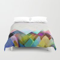 mountain Duvet Covers featuring Graphic 104 by Mareike Böhmer