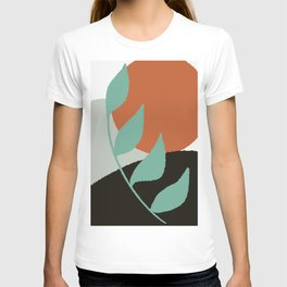 Botanical Sunset Abstract, At the Shore Palette T-shirt