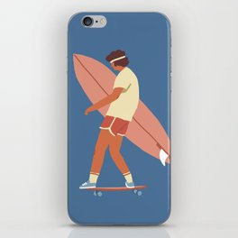 Surf poster iPhone Skin