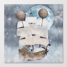 an arctic adventure Canvas Print