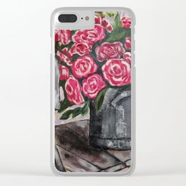 """Still Life """"Roses"""" Clear iPhone Case"""