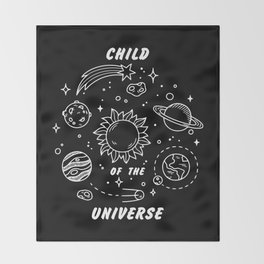 Child of the Universe Throw Blanket