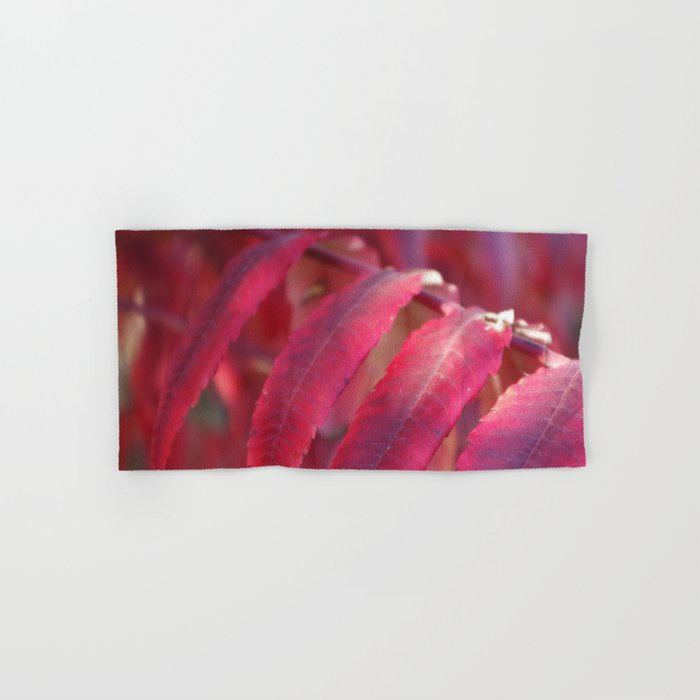Radiant Red Sumac Leaves Hand & Bath Towel