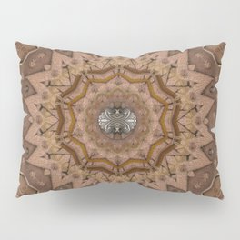 peace on earth in leather Pillow Sham