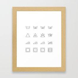 laundry time Framed Art Print