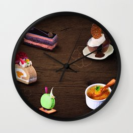 Traditional Japanese chocolate cake Wall Clock