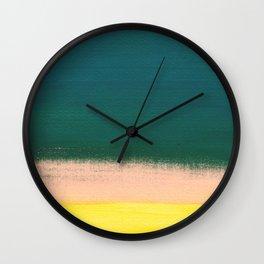 Minimal Abstract Sunset Painting Wall Clock