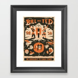 Bill and Ted 25 Tribute Framed Art Print
