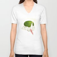 caleb troy V-neck T-shirts featuring Melon of Troy by Dav Yendler