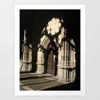 religious Art Prints featuring Religious shadows by Art de L'aube