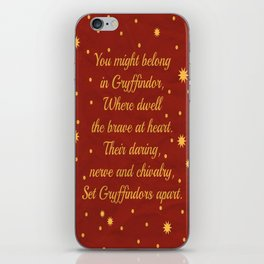Gryffindor House Pride iPhone Skin