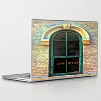 law Laptop & iPad Skins featuring Law Office by Biff Rendar