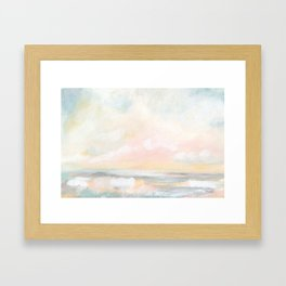 Rebirth - Pastel Ocean Seascape Framed Art Print