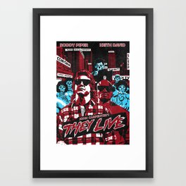 They Live Poster (colour variant) Framed Art Print