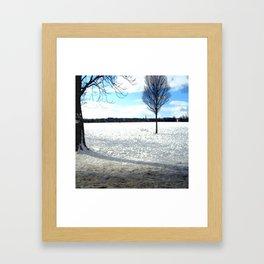 Snow on the Stray Harrogate  Framed Art Print