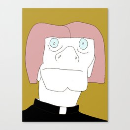 Albino Priest Canvas Print