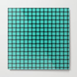 Small Turquoise Weave Metal Print