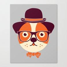 Hipster Dog Canvas Print