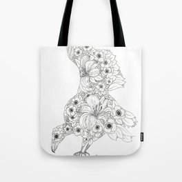 Anemone Lily Vulture Tote Bag