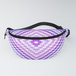 Purple Pixel Diamond Fanny Pack