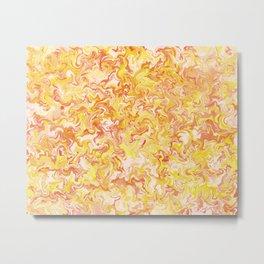 Autumnal Marble Metal Print