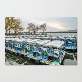 Summer Palace Boats, Beijing Canvas Print