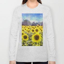 Sunflower Fields Of Summer Dreams Long Sleeve T-shirt