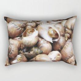 texture of sea snails Rectangular Pillow