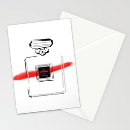 Red Perfume Stationery Cards