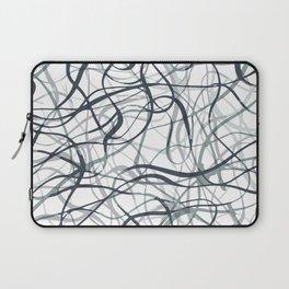curvy gray & black Laptop Sleeve