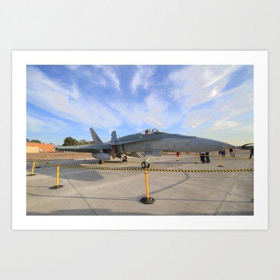 FA-18 on display  Art Print